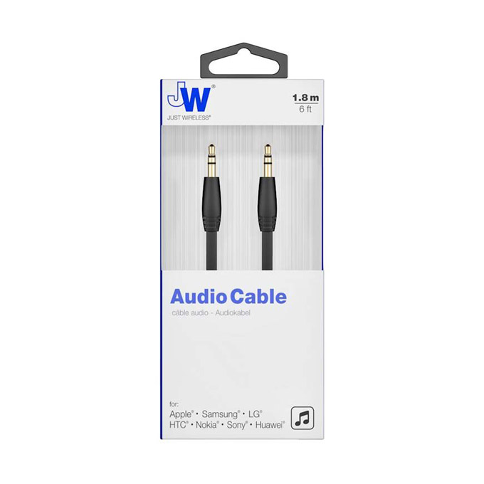 Just Wireless AUX 3.5mm kabel 1.8m